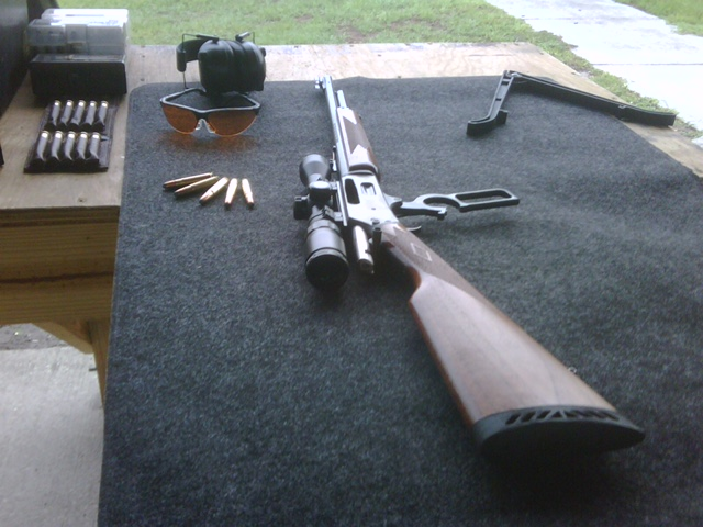 A Marlin 336D 35 Remington Guide Gun at the Range