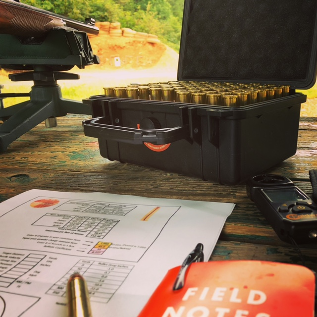 Range Day Gear on the Bench