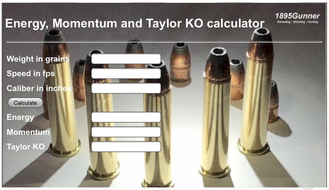 Taylor KO calculator